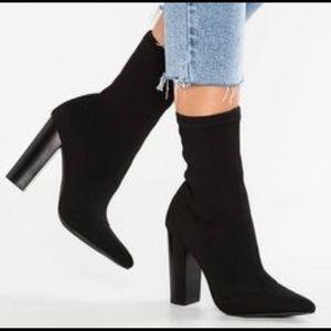 Steve Madden Sienna Pointed Toe Sock Boot